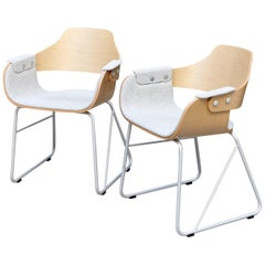 Pair of Jaime Hayon Contemporary Upholstered Wood Chair Showtime by BD Barcelona