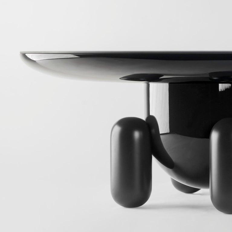 Modern Pair of Jaime Hayon Dark Grey Explorer #03 & #01 Tables by BD Barcelona For Sale