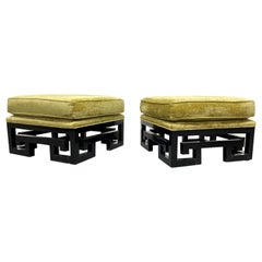Pair of James Mont Style Asian Inspired Benches