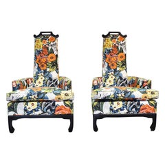 Pair of James Mont Style Chairs by Henredon