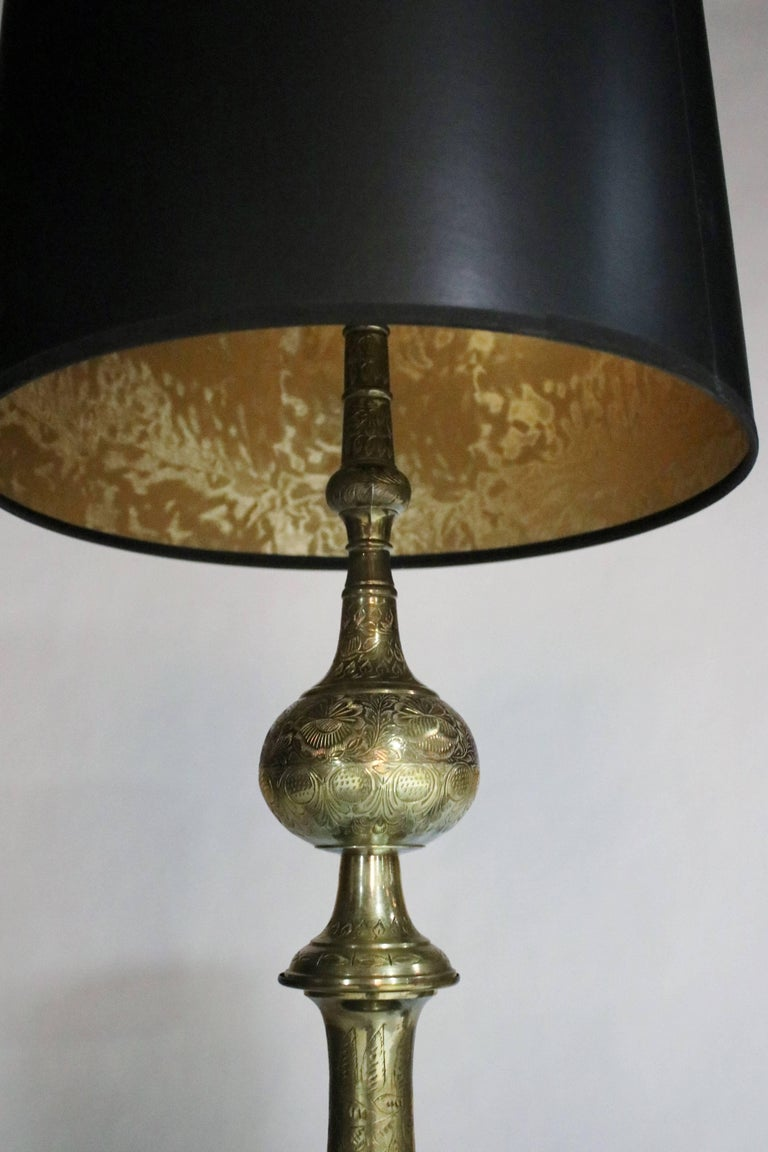 Hollywood Regency Pair of James Mont Style Lamps For Sale