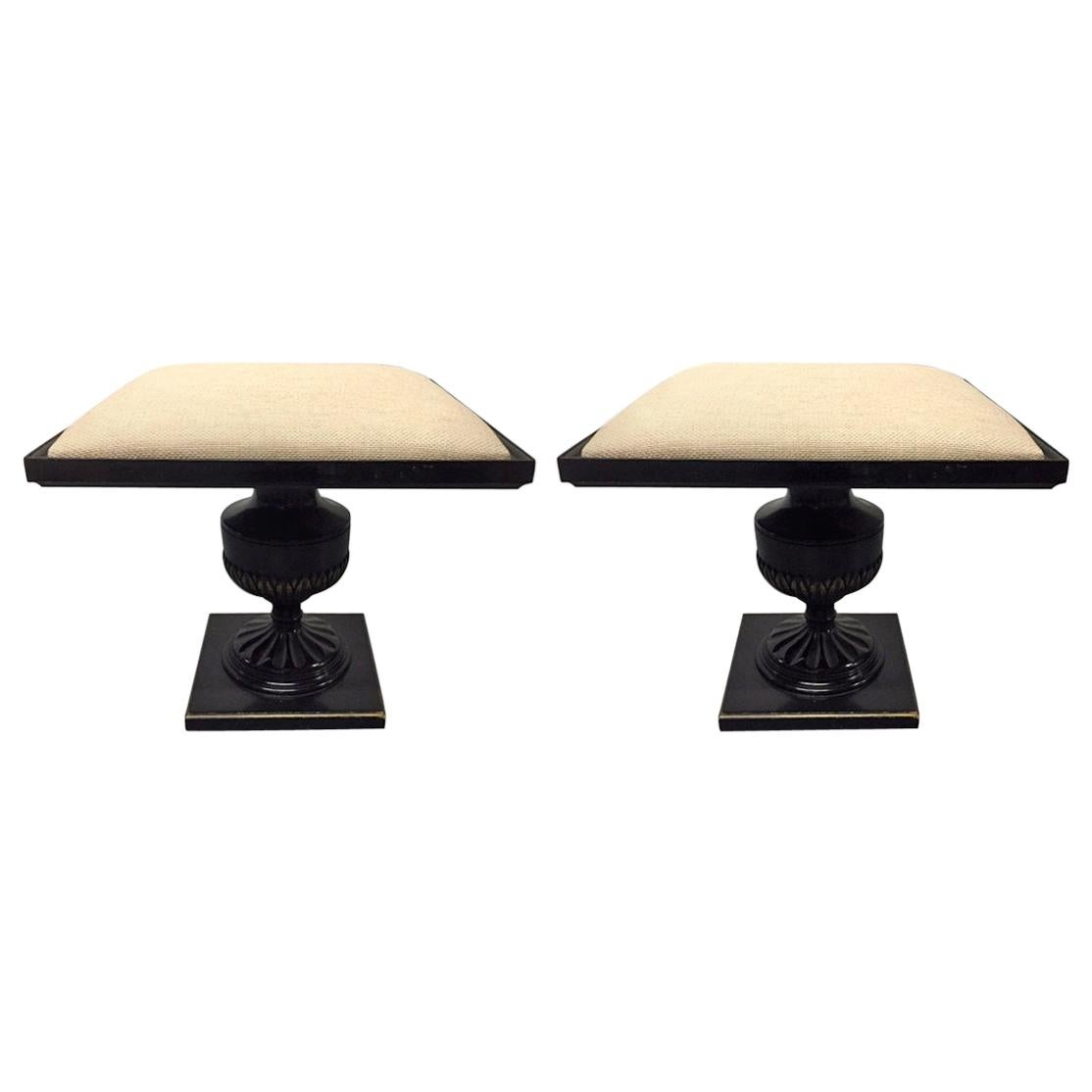 Pair of James Mont Style Stools