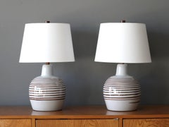 Pair of Jane & Gordon Martz large ceramic table lamps