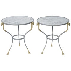 Pair of Jansen Style End Table with Mirrored Tops