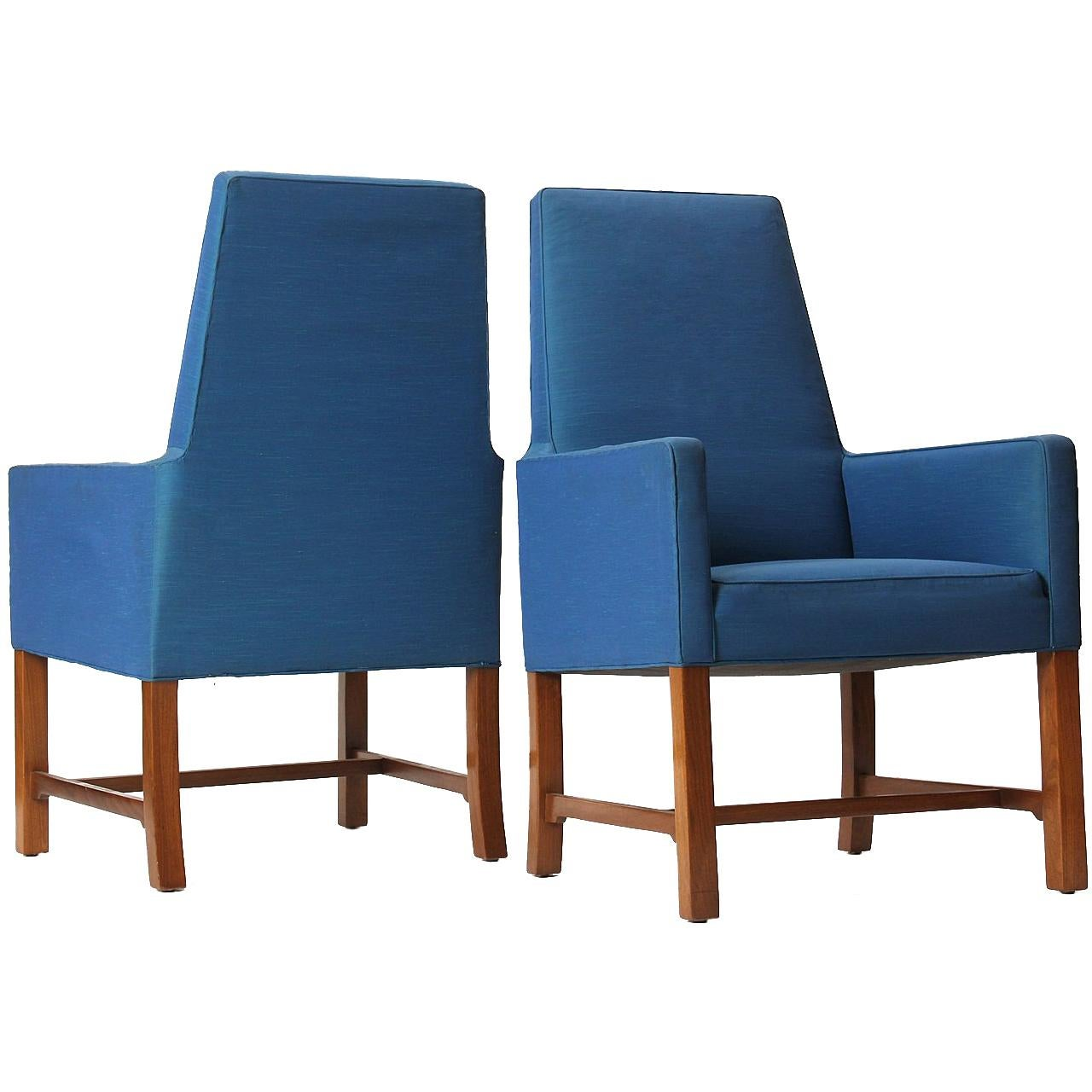 Pair of Janus High Back Chairs by Edward Wormley