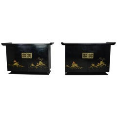 Pair of Japanese Chinoiserie Cabinets