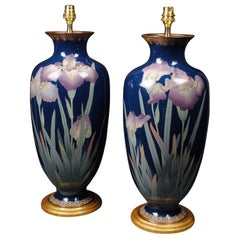 Pair of Japanese Cloisonné 19th Century Table Lamps