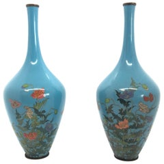 Pair of Japanese Cloisonné Vases, 19th Century