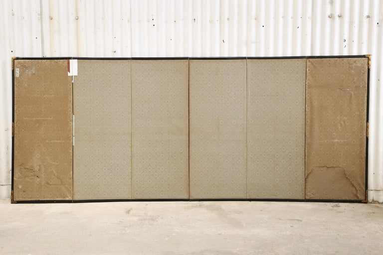 Pair of Japanese Edo Six Panel Screens the Seven Sages For Sale 4