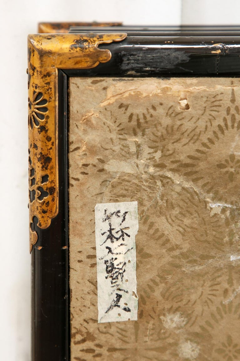 Pair of Japanese Edo Six Panel Screens the Seven Sages For Sale 3