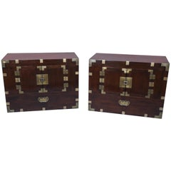 Pair of Japanese Ezo Matsu 'Pine' Tansu Chests