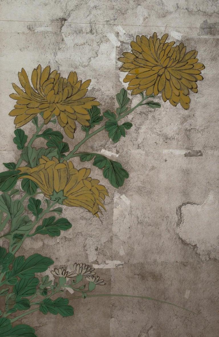 Pair of Japanese Folding Screens, Rinpa School, 19th Century For Sale 7