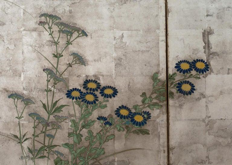 Pair of Japanese Folding Screens, Rinpa School, 19th Century For Sale 4