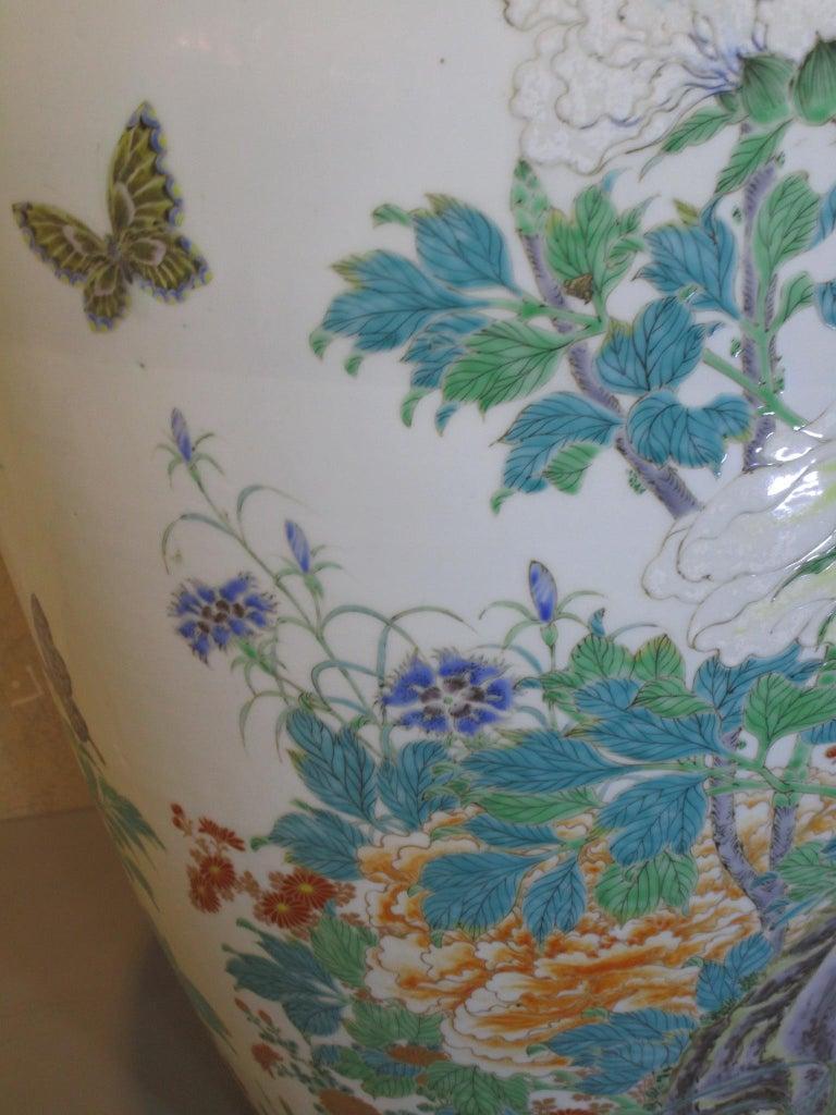 Pair of Japanese Fukagawa Koransha Blue Porcelain Vases, circa 1880 For Sale 1