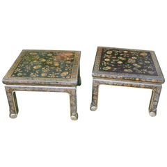 Pair of Japanese Lacquer Coffee Tables