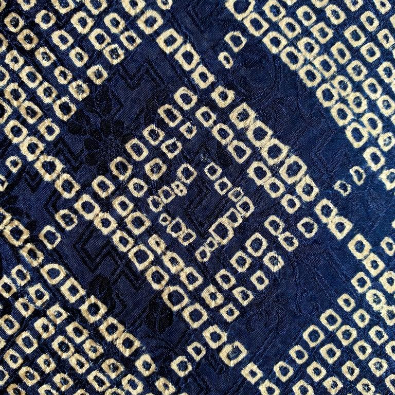 Pair of Japanese Shibori Indigo Pillows For Sale 3