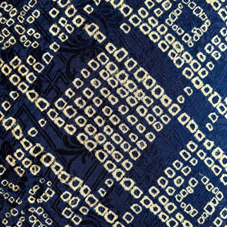 Pair of Japanese Shibori Indigo Pillows For Sale 4