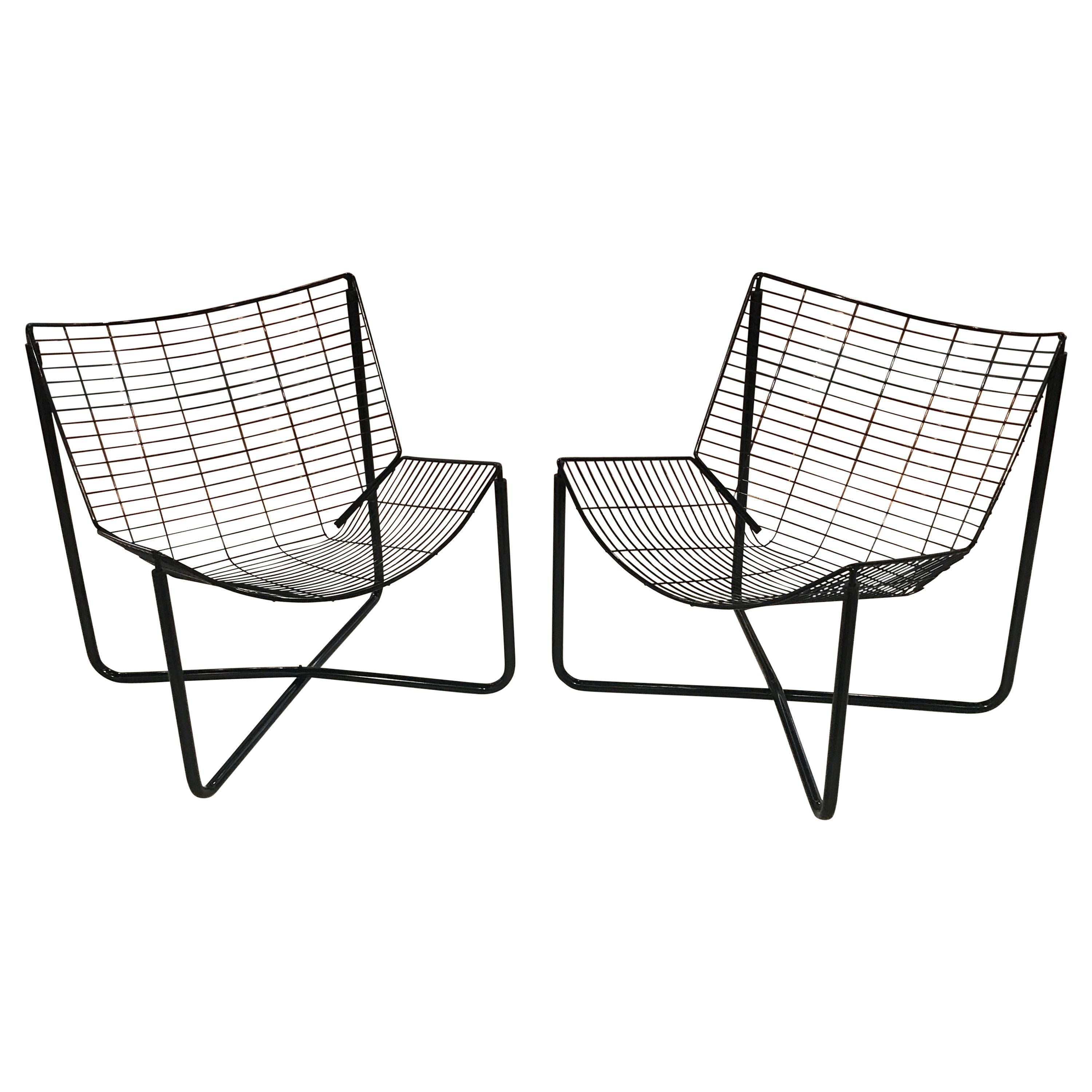 Pair Of Jarpen Wire Chair By Niels Gammelgaard For Ikea 1983 For Sale At 1stdibs