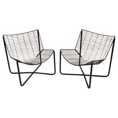 Pair of Jarpen Wire Chair by Niels Gammelgaard for Ikea, 1983