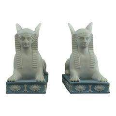 Pair of Jasperware Sphinxes, Wedgwood, circa 1800