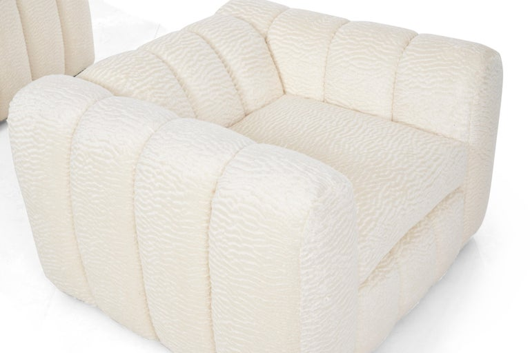 American Pair of Jay Spectre Polar bear Style Lounge Chairs For Sale