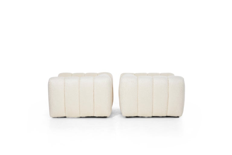 Upholstery Pair of Jay Spectre Polar bear Style Lounge Chairs For Sale
