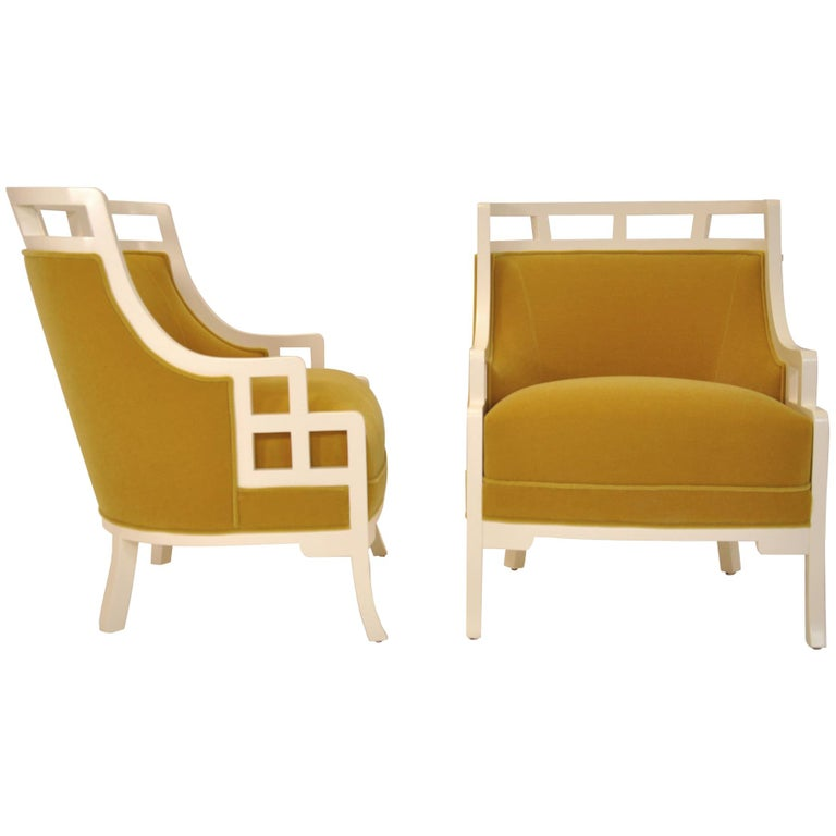 """Pair of Jay Spectre """"Wallis Simpson"""" Chairs For Sale"""