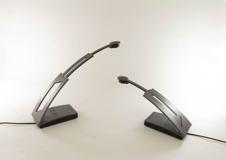 Pair of Jazz table lamps designed by Ferdinand Alexander Porsche and manufactured by PAF Studio in 1988.