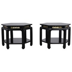 Pair of J.B. Van Sciver 20th Century Hexagon Side Tables