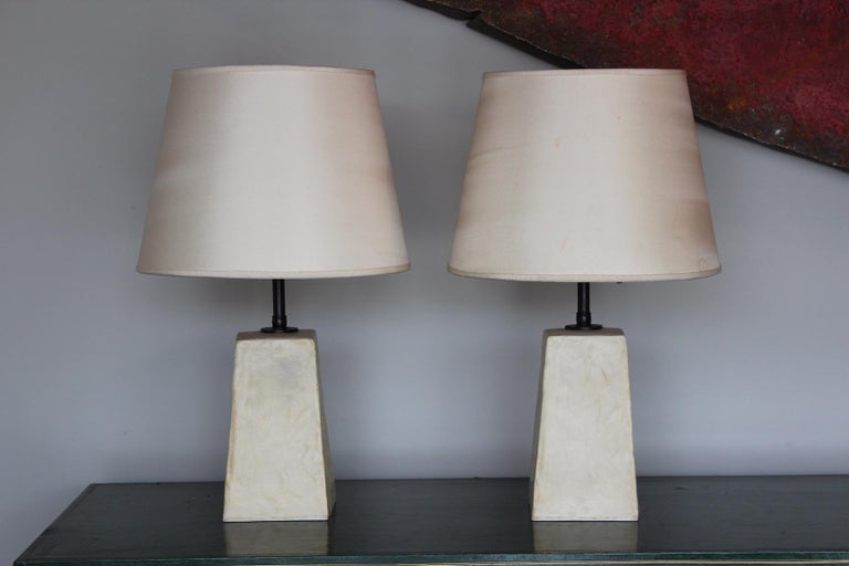 Pair of Jean-Michel Frank Style Table Lamps For Sale 7