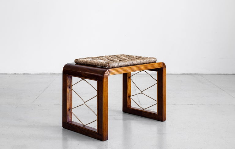 French Pair of Jean Royere Style Stools