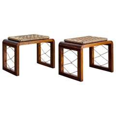 Pair of Jean Royere Style Stools