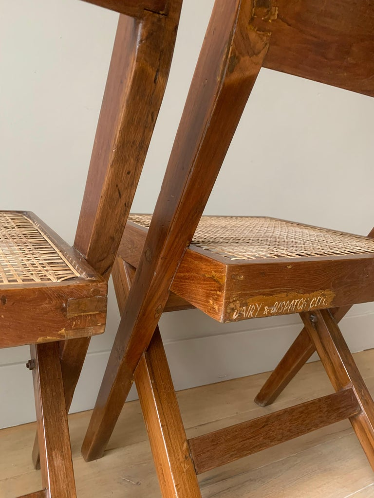 Pair of Jeanneret Library Chairs For Sale 3