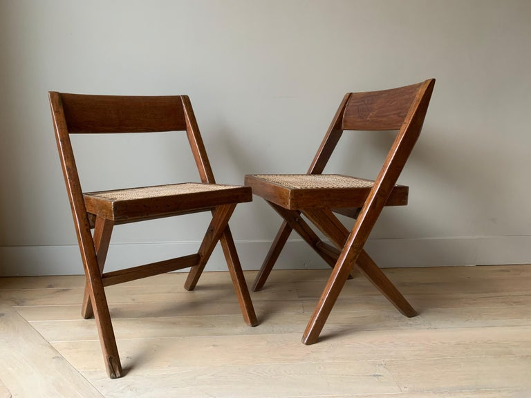 Pair of Jeanneret Library Chairs For Sale 6