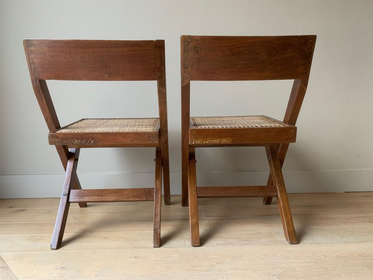 Pair of Jeanneret Library Chairs In Good Condition For Sale In Vosselaar, BE