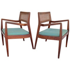 "Pair of Jens Risom Classic ""Playboy"" Chairs, circa 1960s"