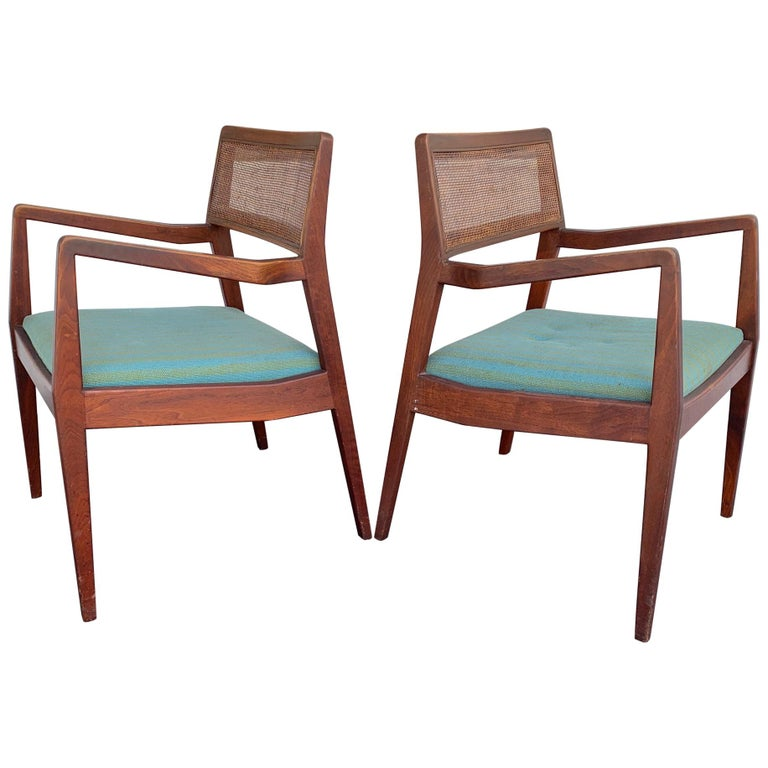 """Pair of Jens Risom Classic """"Playboy"""" Chairs, circa 1960s For Sale"""