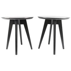 Pair of Jens Risom for Knoll Round Side Tables
