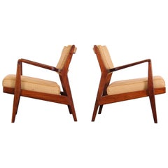 Pair of Jens Risom Lounge Chairs for Risom Incorporation, 1960s