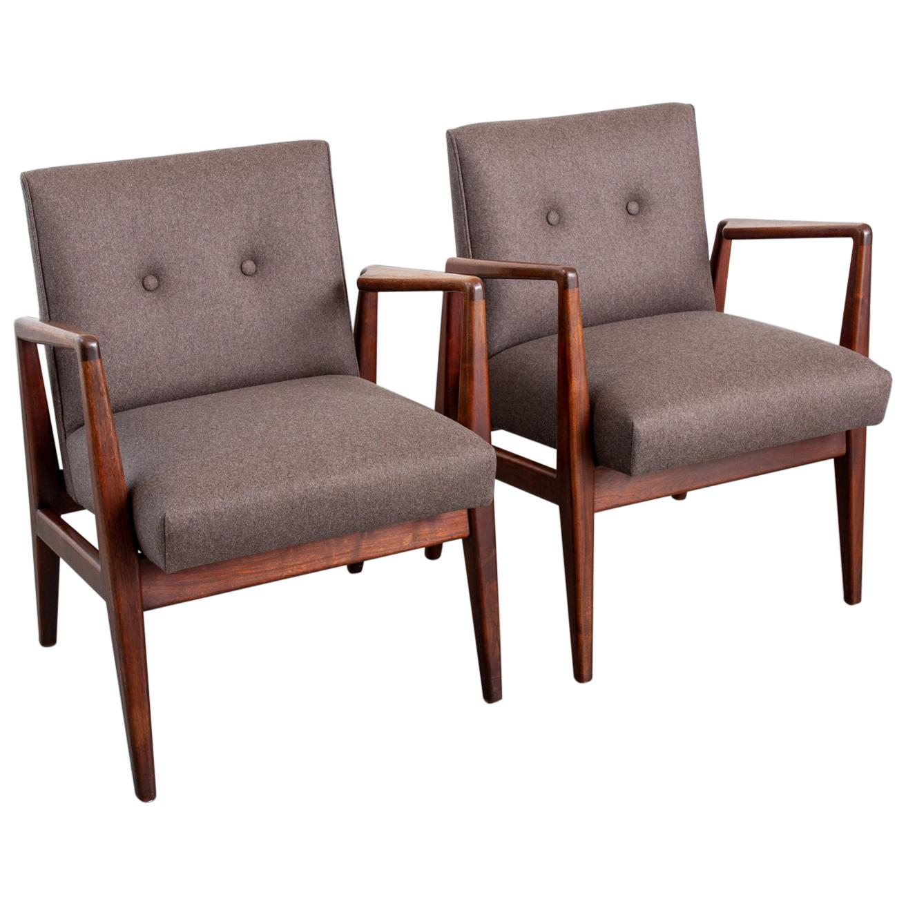 Pair of Jens Risom Mid-Century Modern Armchairs