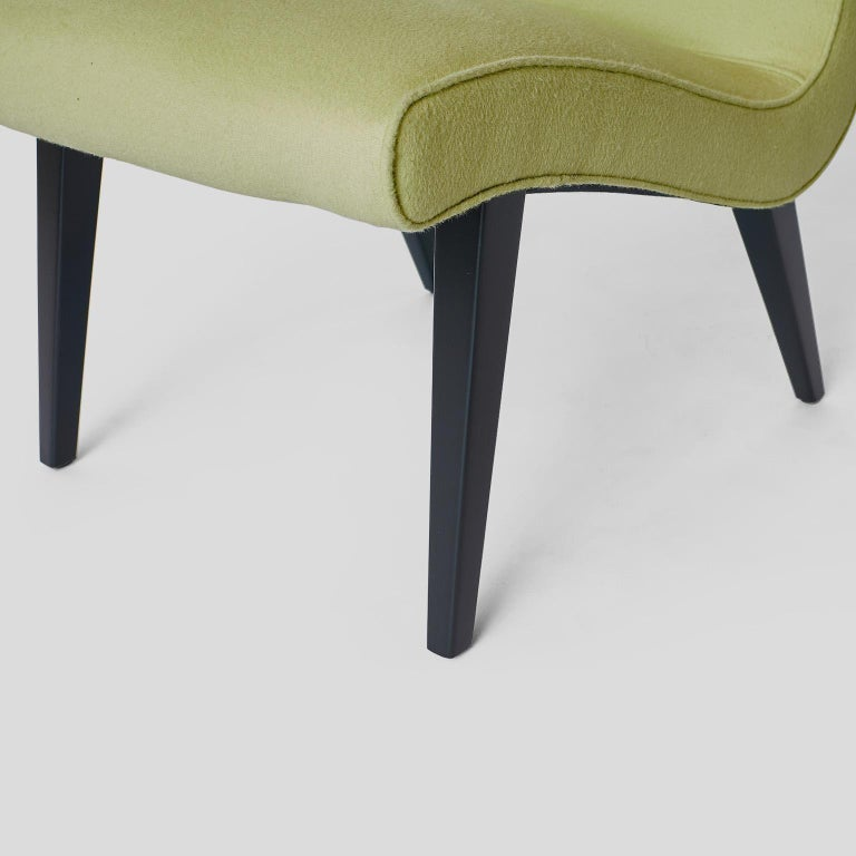 Pair of Jens Risom Scoop Chairs for Hans Knoll For Sale 1