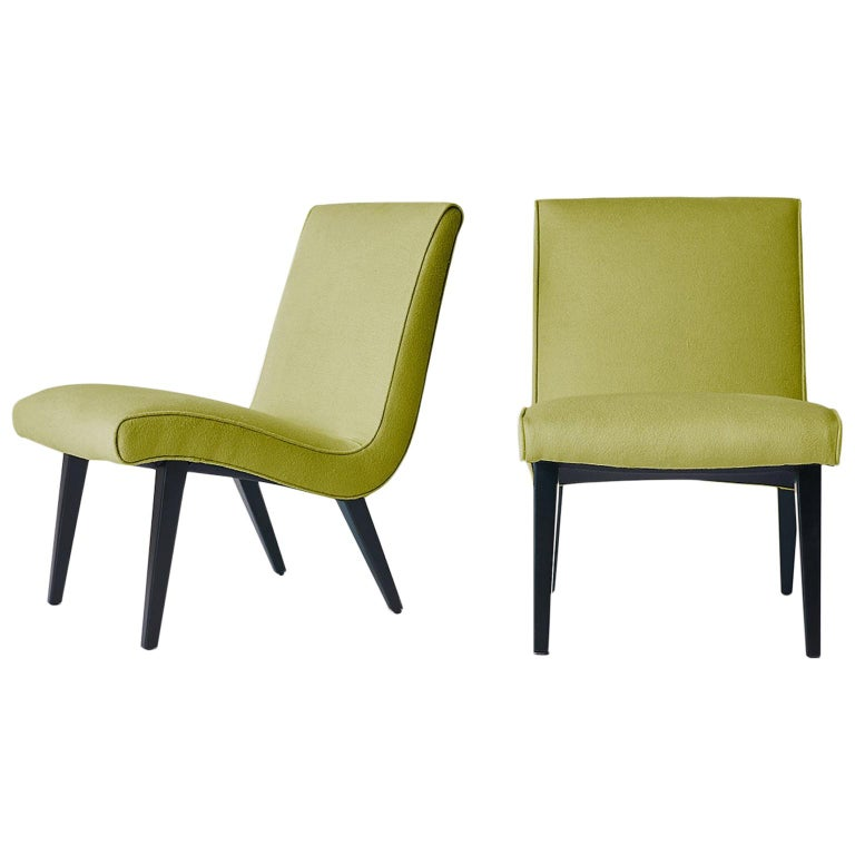 Pair of Jens Risom Scoop Chairs for Hans Knoll For Sale