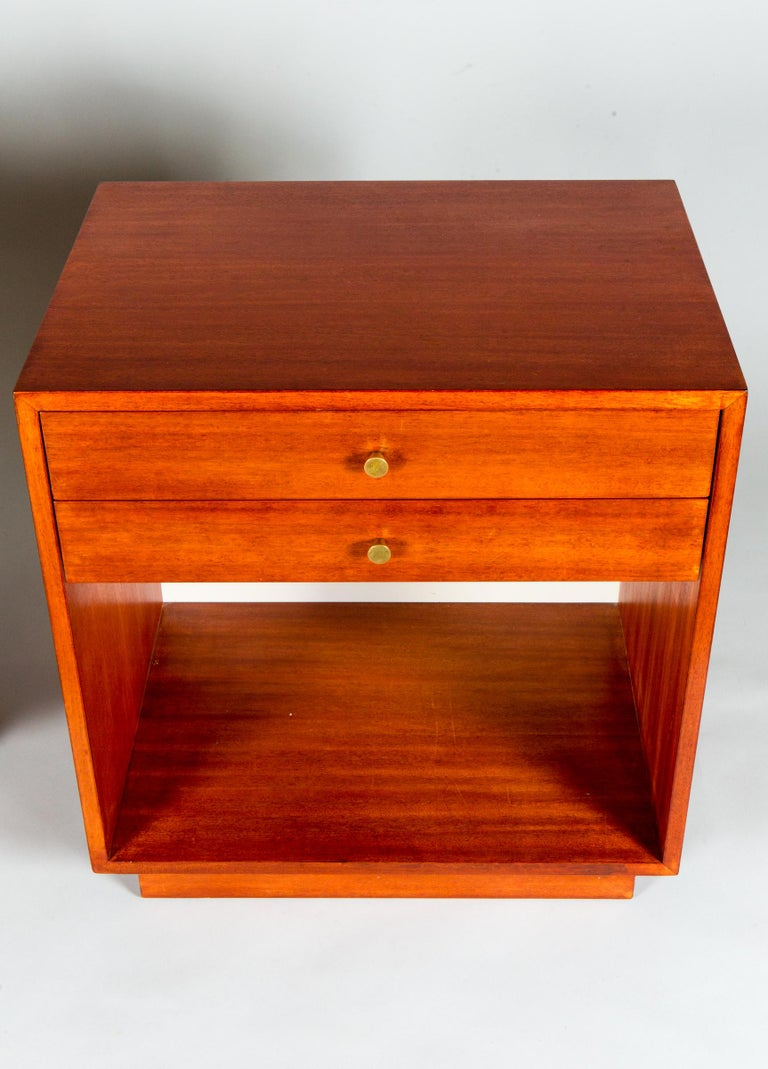 American Pair of Jens Risom Side Tables For Sale