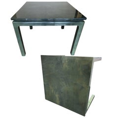 Pair of Jimeco ltda Lacquered Goatskin Game Tables