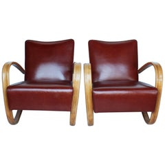 Pair of Jindrich Halabala Art Deco Chairs