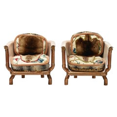 Pair of Joel Otterson Endangered Species Chairs