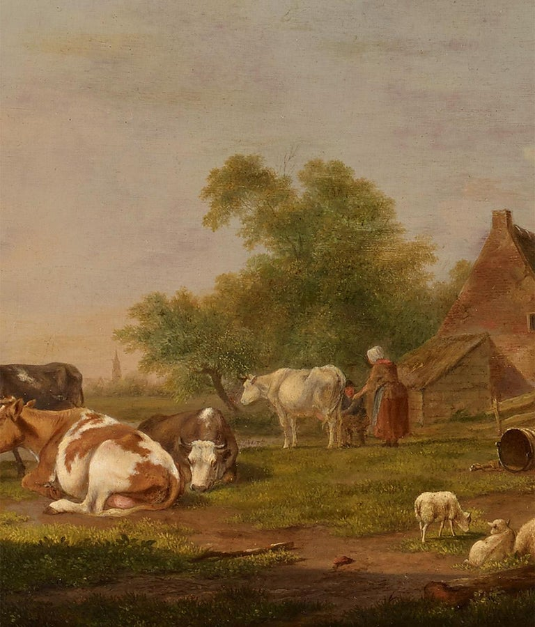 Pair of Johannes Janson 18th century European oil on canvas paintings.  A pair of landscape paintings by Johannes Janson Oil on canvas, in old frames. Janson (born 1729 in the Moluccas, died 1784 in Leiden) came to Holland at the age of eight to