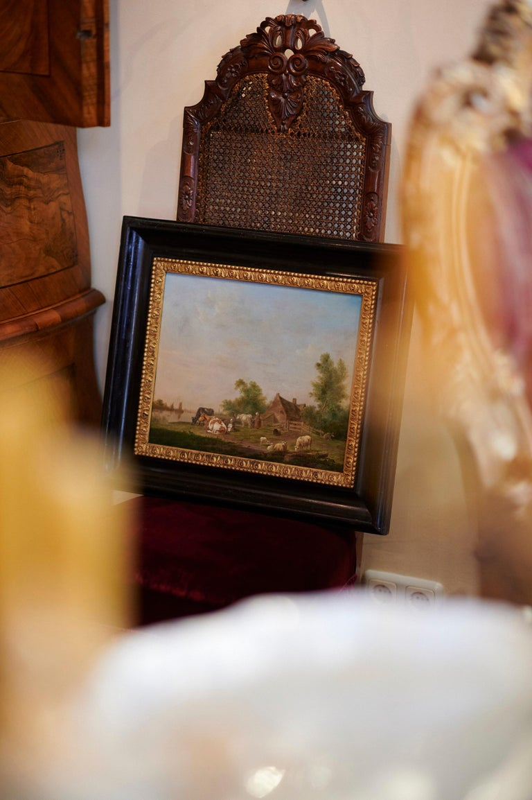Dutch Pair of Johannes Janson 18th Century European Oil on Canvas Paintings For Sale