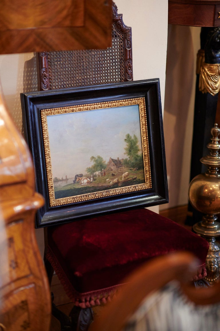 Pair of Johannes Janson 18th Century European Oil on Canvas Paintings In Good Condition For Sale In Bamberg, DE