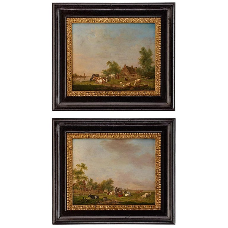 Pair of Johannes Janson 18th Century European Oil on Canvas Paintings For Sale